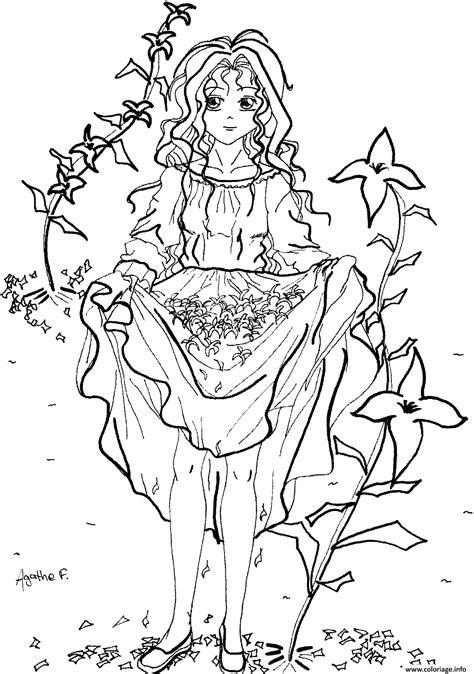 Sa sortie nationale en france a lieu. Coloriage Fille Manga 6 dessin