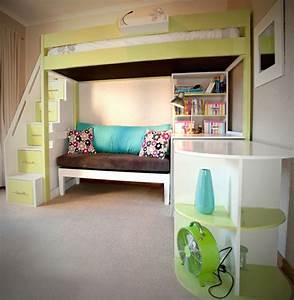 Hochbett Für Zwei Kinder : hochbett treppe mit stauraum sch n kinderhochbett f r zwei ~ Markanthonyermac.com Haus und Dekorationen