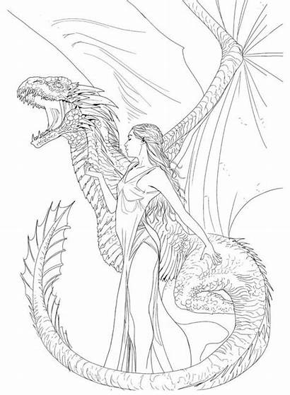 Thrones Coloring Pages Paulrenaud Drawings Adult Wip