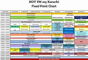 hot fm 105 complete programs schedule With radio schedule template