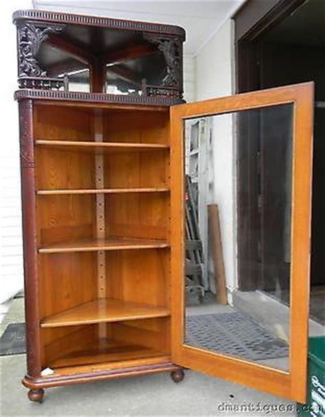 antique oak corner china cabinet 1000 images about antique furniture corner cabinets 7482