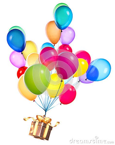gift hanging  color balloons stock image image