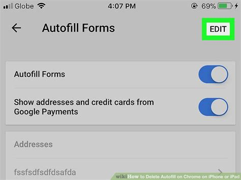 change autofill iphone how to delete autofill on chrome on iphone or 15 steps 10356