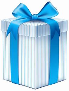 Gift Box with Blue Bow PNG Clipart Image | Gallery ...