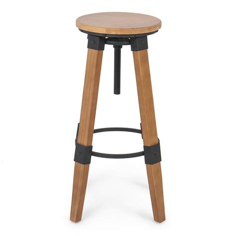Wood Counter Stools - industrial bar stools swivel wood vintage adjustable