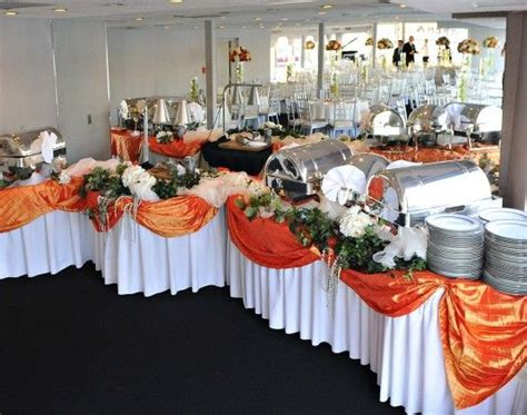 how to decorate a buffet table for a party accent color for buffet table use the blue table cloths