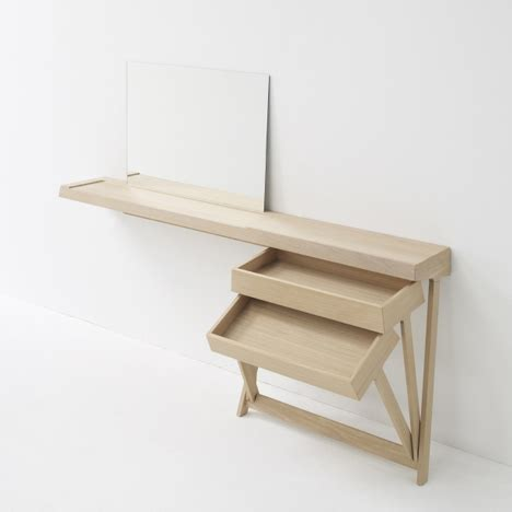 thin dressing table a dressing table and a desk with cool hinged drawers home decor
