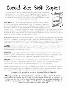 Cereal Box Book Report Instructions