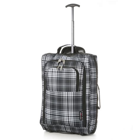 travel cabin bags 5 cities 55cm lightweight trolley luggage cabin bag