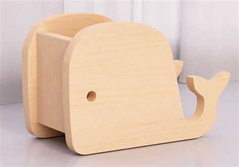 wooden whale elephant  holder phone holder stand