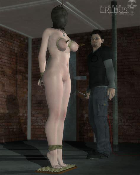 Rule 34 3d Arcas Asphyxiation Blindfold Bondage Breasts