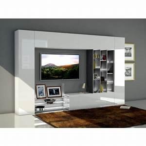 Meuble Tv Auchan : ensemble meuble tv mural gizeh l290 cm pas cher prix auchan ~ Teatrodelosmanantiales.com Idées de Décoration