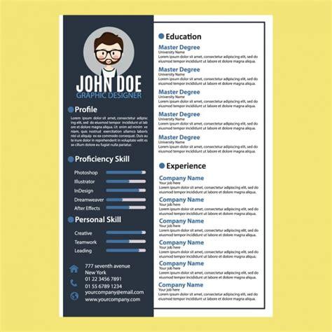 curriculum vitae design vector free