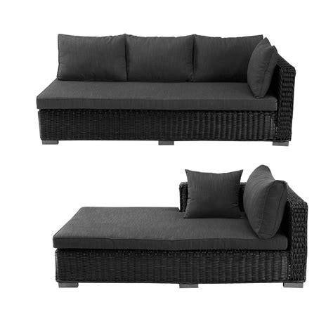canapé extérieur canapé d 39 angle d 39 extérieur en résine tressée cendre