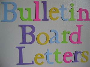 20 30 die cut letters bulletin board letters for Extra large bulletin board letters