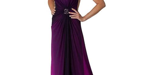 Purple Ombre One Shoulder Dress