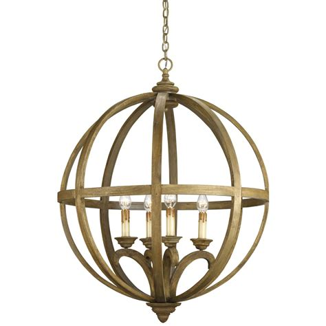 Orb Light Chandelier by Currey Company Axel Four Light Orb Chandelier 9015