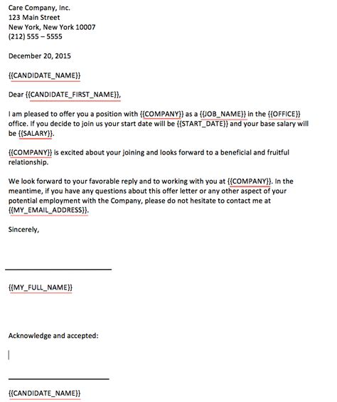 generate  offer letter  greenhouse