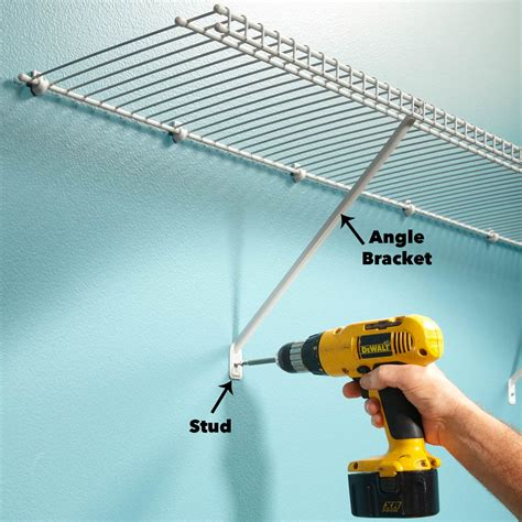 How To Hang Closetmaid Wire Shelving - how to install wire shelving for a wire closet system