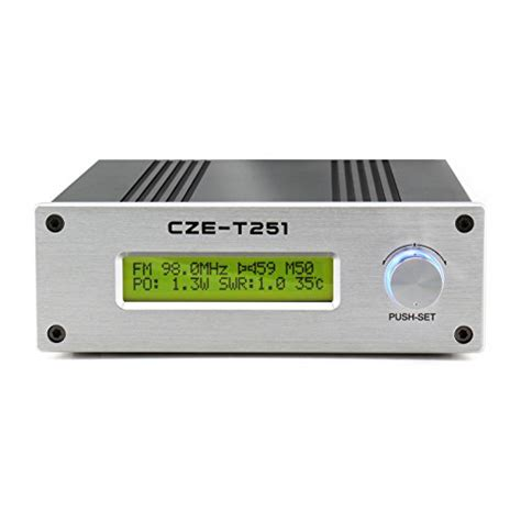 czerf cze t251 0 25w lcd pll stereo broadcast radio station fm transmitter exciter