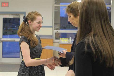 reception welcomes class scholarship winners villa maria