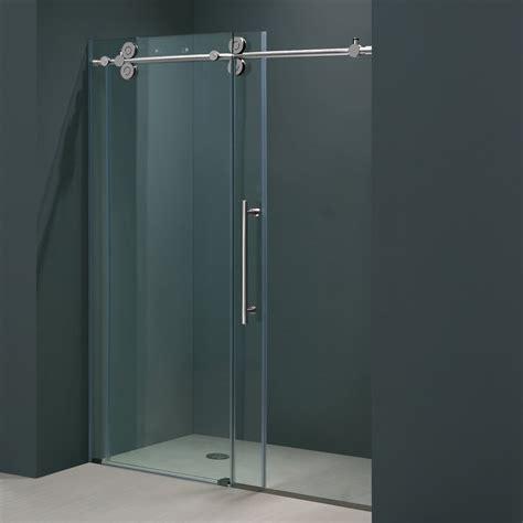 sliding frameless shower doors frameless sliding glass shower doors practical
