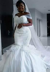 C V Elegant Satin Vintage Mermaid Wedding Dress With Long