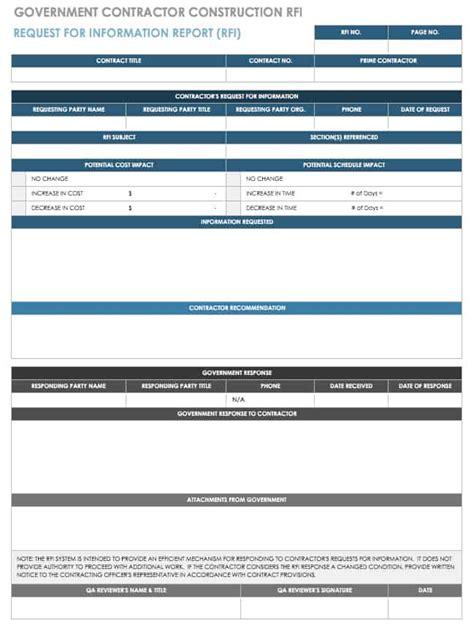 construction rfi templates  forms smartsheet