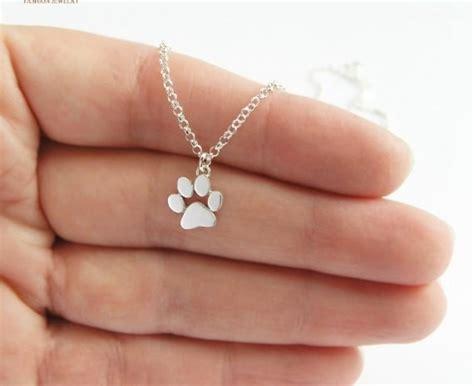 cat  dog paw print necklace