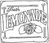 Lemonade Coloring Stand Drawing Fresh Lemoniada Kolorowanki Lemons Clip Dzieci Dla Signs Digi Yard Stamps Adayfordaisies sketch template
