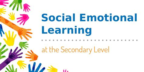 social emotional learning   secondary level