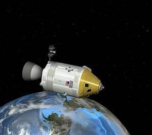 Apollo Spacecraft Orbiting Earth, Artwork Photograph by ...