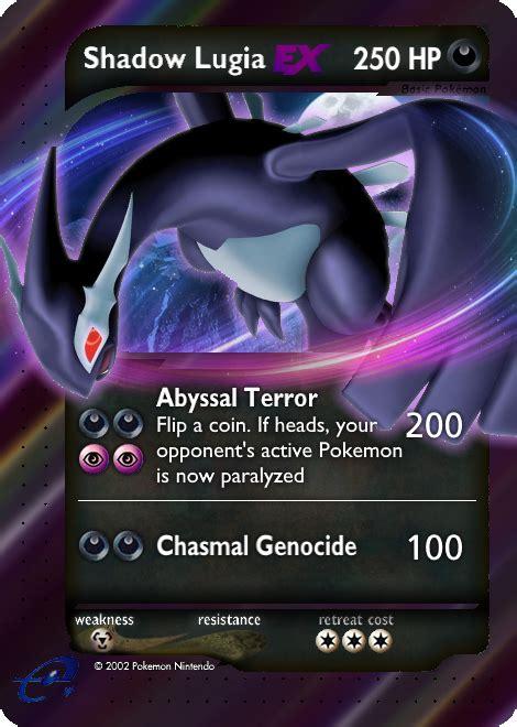 Shadow lugia is the strongest card. Shadow Lugia E-Series Custom Pokemon Card by KryptixDesigns on DeviantArt