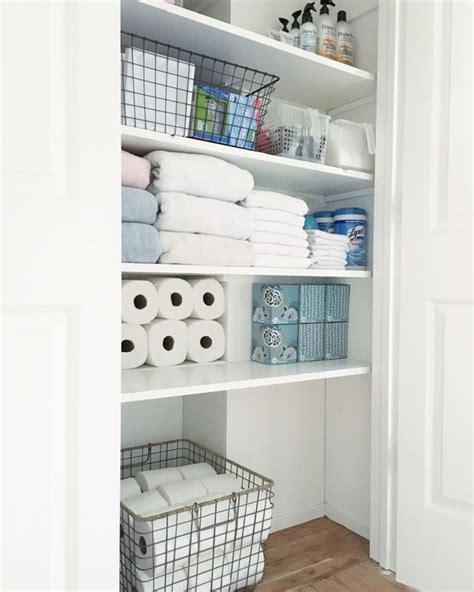 Bathroom Linen Closet Organization Ideas by Organized Bathroom Closet Simply Organized A Farm