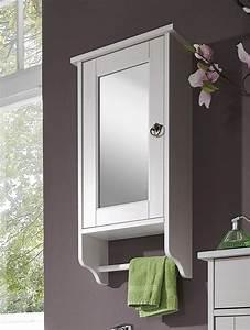 Gartenschrank Holz Weiß : bad spiegelschrank 39x74x16cm mit handtuchhalter kiefer massiv ~ Michelbontemps.com Haus und Dekorationen