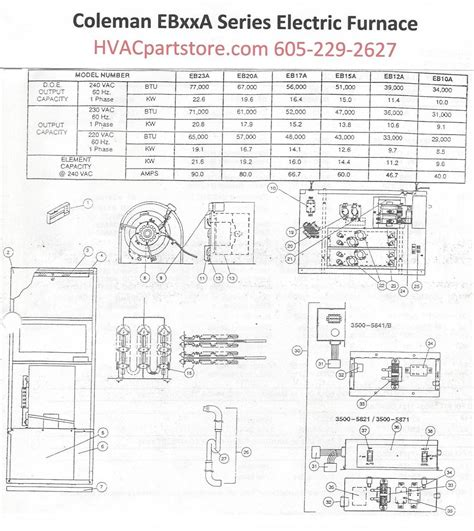 Eba Coleman Electric Furnace Parts Hvacpartstore