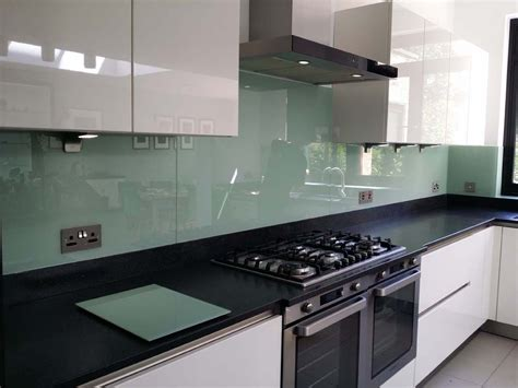 glass backsplash in kitchen tuscan glade glass colour kitchen splashback by creoglass 3759