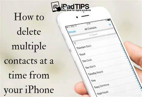 how to delete contacts on iphone how to delete contacts in one time from iphone