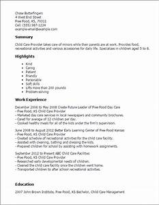 Child care provider resume template best design tips for Child care resume templates free