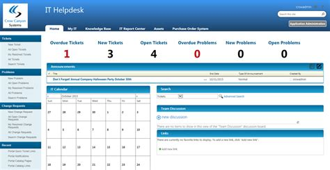 service desk ticketing system sharepoint help desk application crow canyon