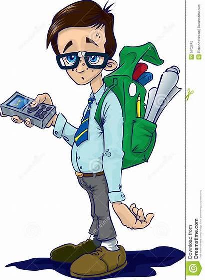 Nerd Geek Illustration Boy