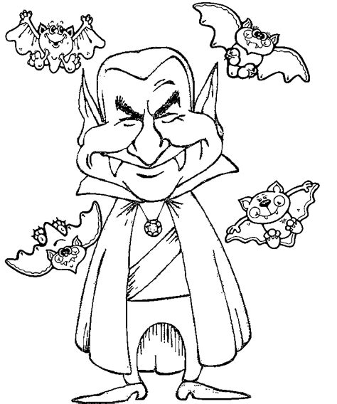 Image Gallery halloween vampire coloring pages