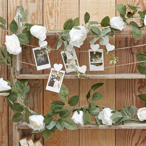 white flower garland wedding decoration backdrop  ginger