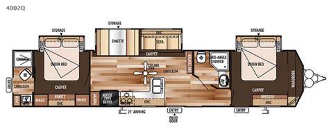 Travel Trailer Floor Plans 1 Bedroom by Bunkhouse Floor Plans Travel Trailers 2017 2018 Best