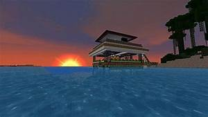 Modern Beach House + Texture pack Minecraft Project