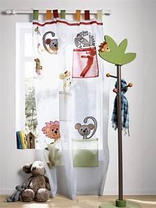Rideau De Chambre : rideau organdi animaux th me l 39 as tu vu chambre b b collection printemps t 2014 www ~ Teatrodelosmanantiales.com Idées de Décoration