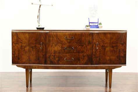 sold art deco  vintage burl sideboard server