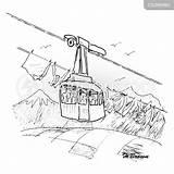 Cable Cartoon Lift Ski Funny Cartoons Comics Cartoonstock sketch template