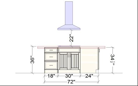Kitchens Standard Kitchen Island Height Including
