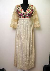beautiful vintage 196039s embroidered mexican wedding dress With embroidered mexican wedding dress